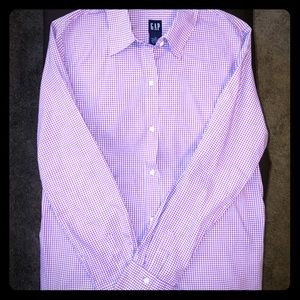 Gap Purple and White Blouse